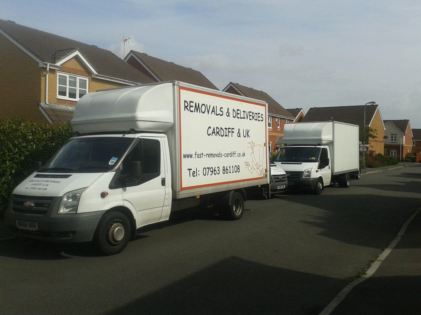 Half loaded van